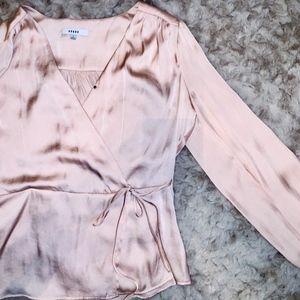 silk wrap blouse- size small from Bo + De
